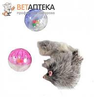 Набор игрушек для кошки 2 пластиковых шара, меховая мышь XW0329