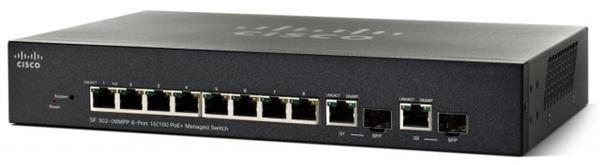 Коммутатор CISCO SF302-08MPP 8-port 10/100 Max PoE+ Managed Switch