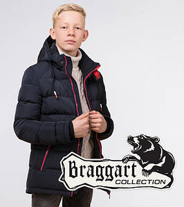 Braggart Kids   Детская зимняя куртка 60455 темно-синяя