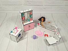Комплект мебели для ванны кукольного домика