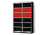 Угловой шкаф-купе с комбинированными фасадами из цветных глянцевых стекол, фото 8