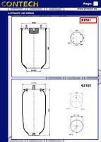 Пневмоподушка DAF, SAF, ROR 4 шпильки-воздух, верх. плита с отб., 810MB0, 08404071, W01M587237,1D28A2, 1T19E1