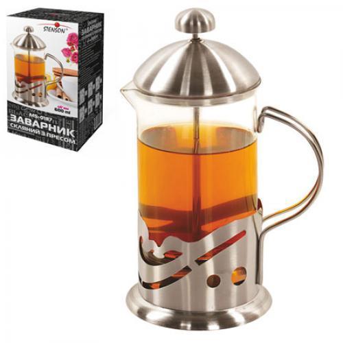 Заварник для чая с прессом 600 мл