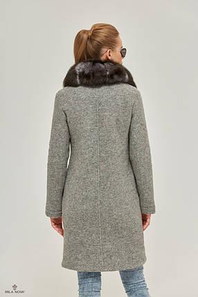 Зимнее Пальто серое, фото 2