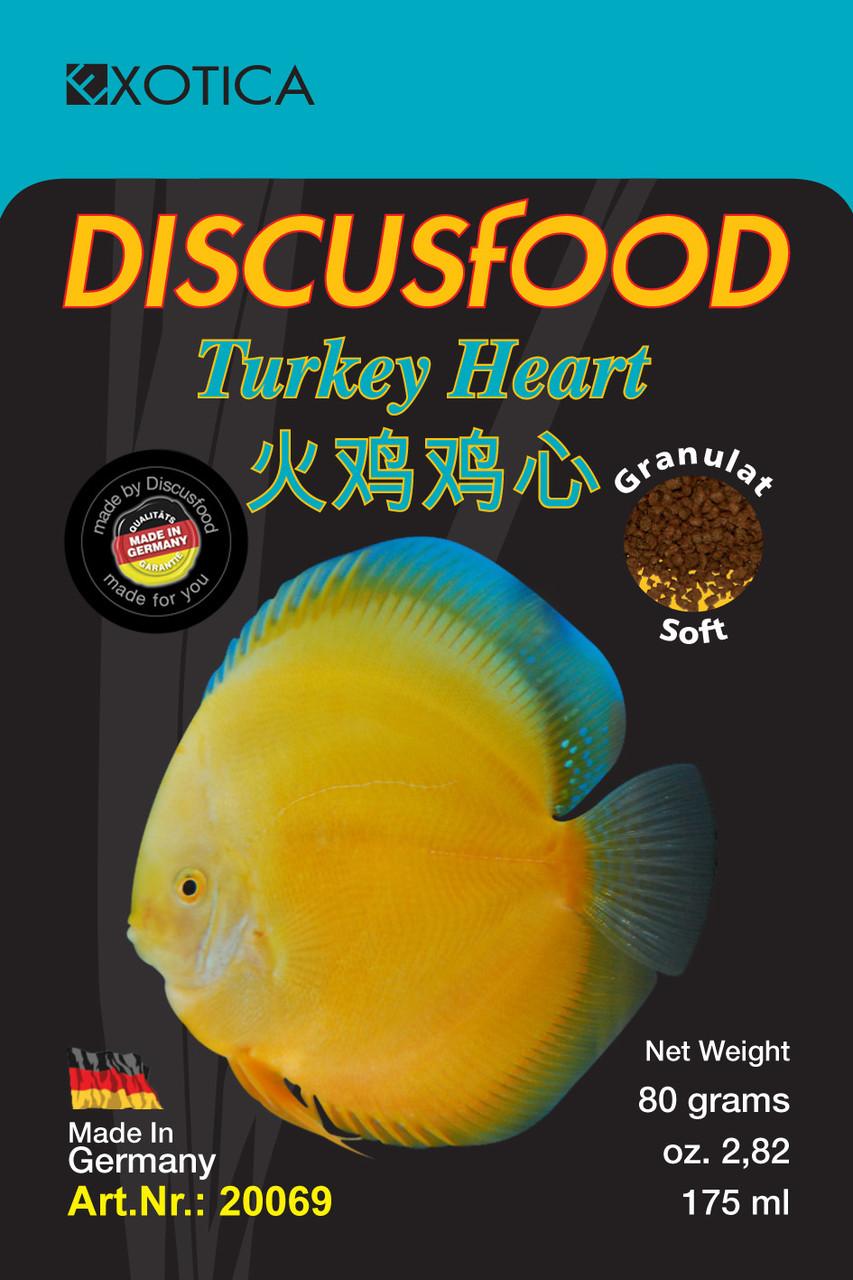 Корм для Дискусов. Discusfood Turkey Heart Soft Granulate 80 гр. 1 мм.