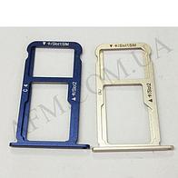 Держатель Sim- карты и карты памяти для Huawei Honor 8 (FRD- L09/  FRD- L19) синий