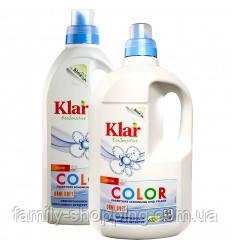 Органическое жидкое средство для стирки цветного белья Klar