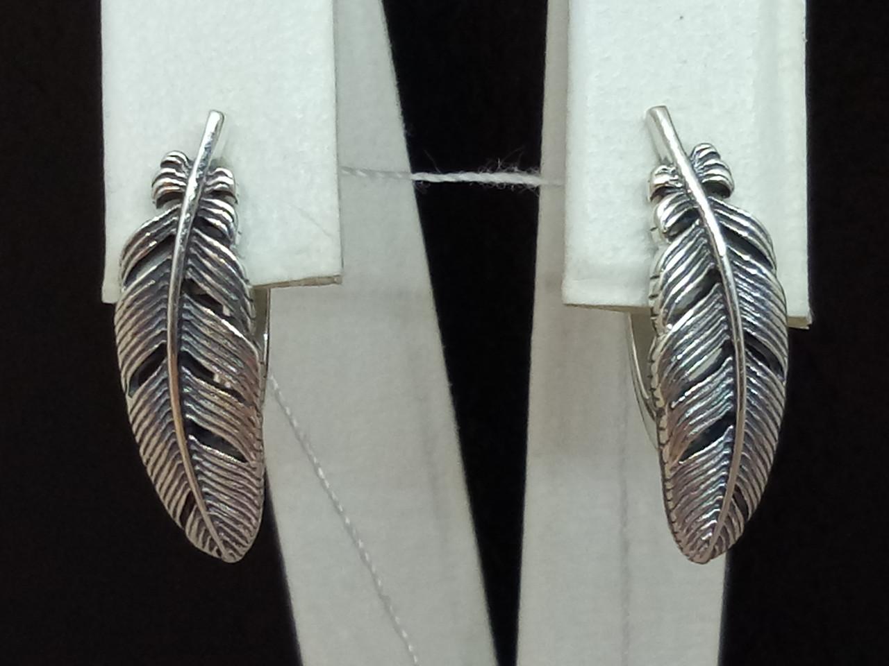 Серебряные серьги. Артикул 20008