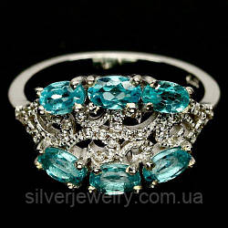 Серебряное кольцо с АПАТИТОМ (натуральный!!), серебро 925 пр. Размер 17,25