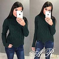 Тёплый вязаный свитер под горло, фото 1