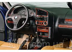 Наклейки на панель декоративные BMW E36 01.1991-04.1998 (20 предметов, дерево)