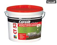 Краска структурная интерьерная Ceresit CT 53 10 л