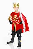 Детский карнавальный костюм для мальчика Король 110-140р, фото 2