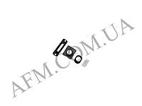 Набор для внешних колец iPhone 5 (4шт) на зарядку и наушники + стекла камеры и вспышки чёрный