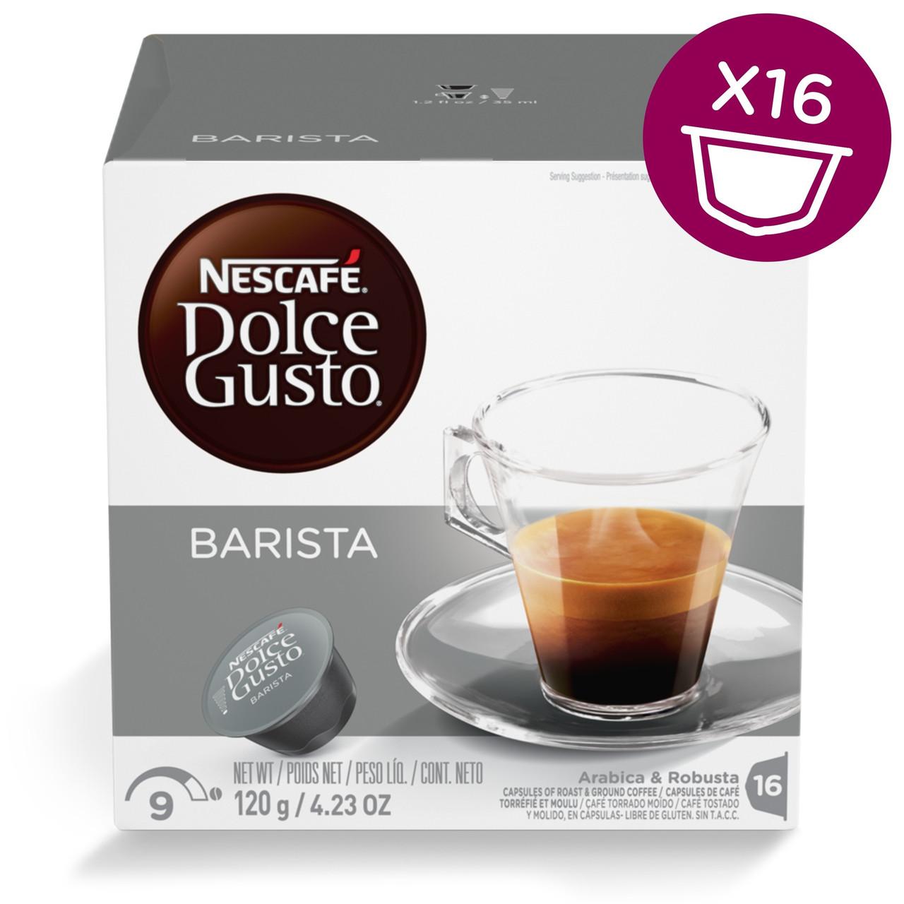 Кофе в капсулах NESCAFE Dolce Gusto Ristretto Barista 16 шт. (Нескафе Дольче Густо Ристретто)