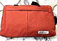 Універсальні спортивні сумки Nike текстиль на плече (червоний)30*48см