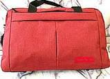 Універсальні спортивні сумки Nike текстиль на плече (червоний)30*48см, фото 3