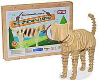 """Дерев'яний конструктор 366 """"Кішка"""" 80 елементів, в кор-ці 32,8см-24,5см-4см 4820175996320"""