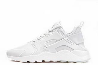Мужские кроссовки  Nike Huarache Utility Leather White |Мужские кроссовки найк хуараче белые оригинал