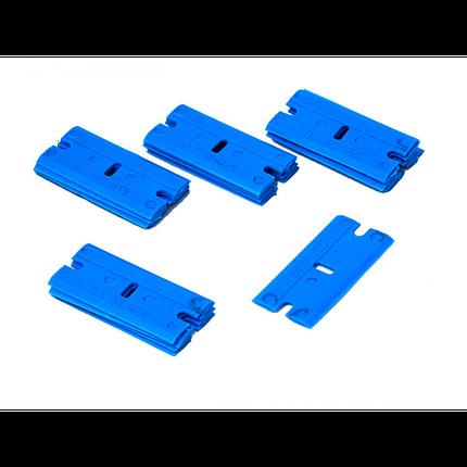 21910703 Леза для скребка - Uzlex, L-EDGE, м'які, сині. (20 шт.) - Blade soft blue for L-EDGE tool, фото 2