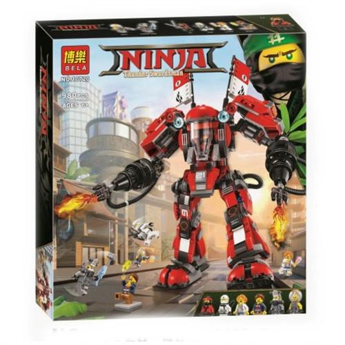 """Конструктор Bela Ninja """"Огненный Робот Кая"""" 980 деталей"""