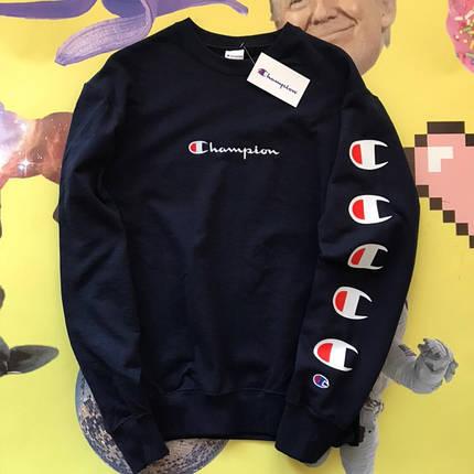 Champion черный свитшот • Бирки ориг. • Качество топ • Все размеры, фото 2
