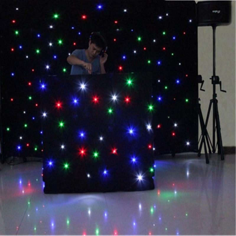 LED штора RGBW 15 програм, 8 каналів. Розмір 2,2 м x 4 м (можливі будь які розміри)