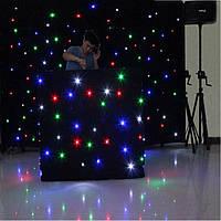 LED штора RGBW 15 програм, 8 каналів. Розмір 2,2 м x 4 м (можливі будь які розміри), фото 1