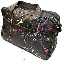 Универсальные дорожные сумки Украина (черный принт)30*46см