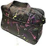 Универсальные дорожные сумки Украина (черный-белый принт)30*46см, фото 2