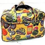 Универсальные дорожные сумки Украина (черный-белый принт)30*46см, фото 4