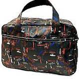 Универсальные дорожные сумки Украина (черный-белый принт)30*46см, фото 5