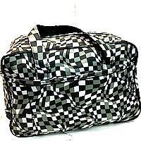 Универсальные дорожные сумки Украина (черный-белый принт)30*46см