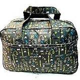 Универсальные дорожные сумки Украина (черный принт)30*46см, фото 6