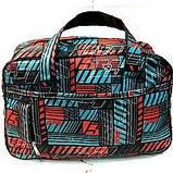 Универсальные дорожные сумки Украина (черный-белый принт)30*46см, фото 7