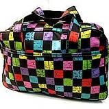 Универсальные дорожные сумки Украина (черный-белый принт)30*46см, фото 8