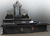 Подвійний пам'ятник з чорного граніту Д6010, фото 1