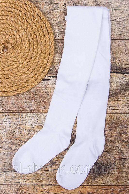 Колготки дитячі білі (прості без візерунків) Розмір — 92 - 104 см, 104-116 см, 116-128 см, 128-140 см, 140-152 з