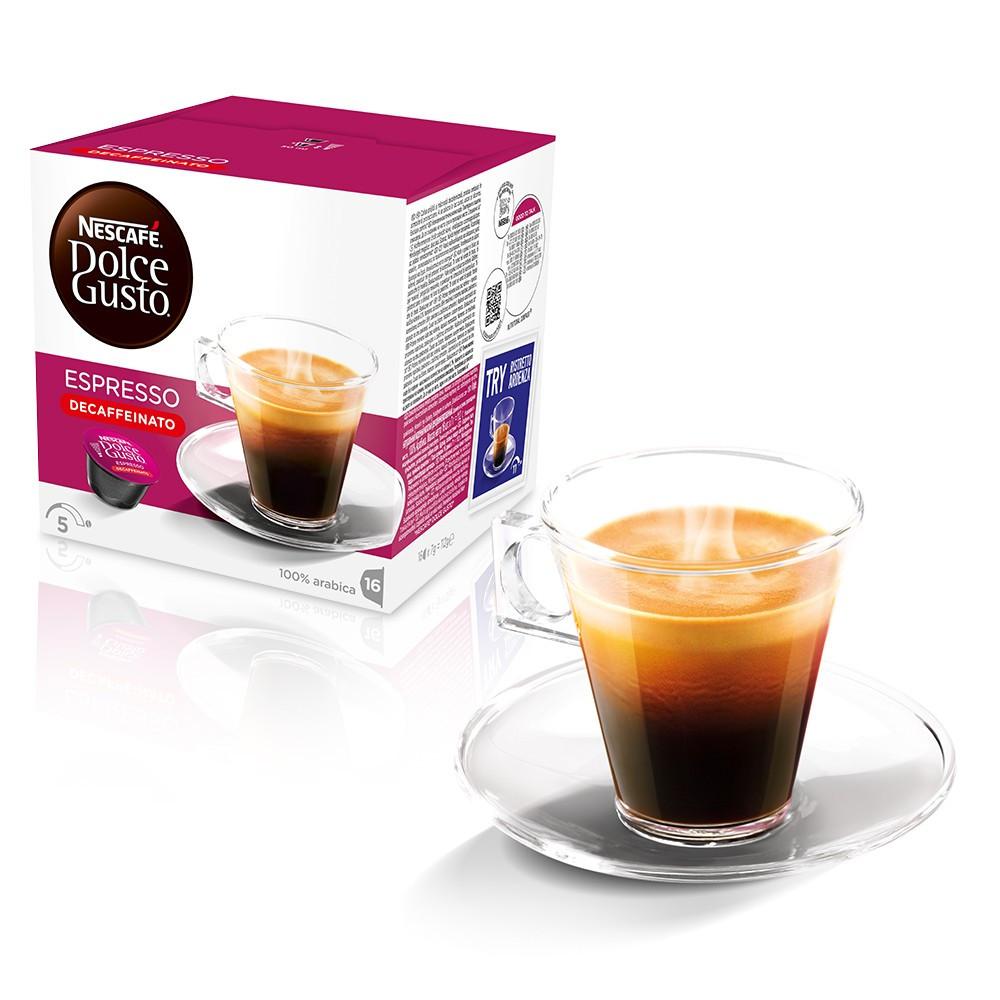 Кофе в капсулах NESCAFE Dolce Gusto Espresso Decaffeinato 16 шт. (Нескафе Дольче Густо Без кофеина)
