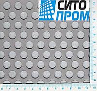 Перфорированный лист, нержавеющая сталь, круглая ячейка PA Rv10-15/1/1000x2000, Код товара: 02430