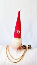 Гном новогодний красный 28,5 см