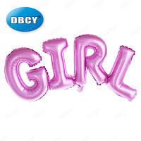 Фольгированная надпись Girl, 106х37 см