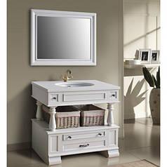 Комплект мебели Ольвия (Атолл) Джулия 95 см ivory (серебро)