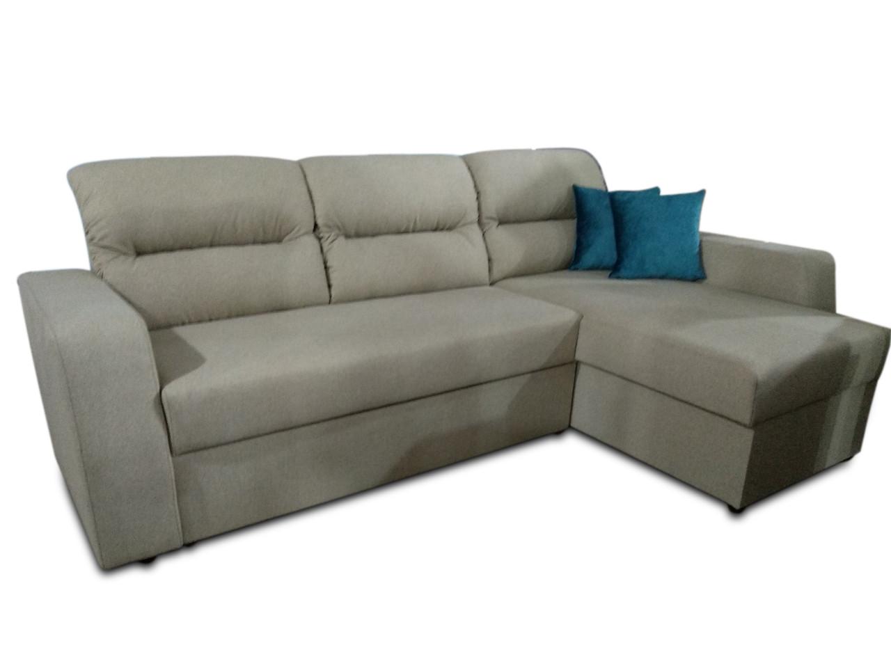Угловой диван Эко Дрим 2,5 бежевый Элизиум