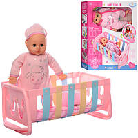 Кукла-пупс WZJ018-1-2 Lovely мягконабивной, кровать, одеяло