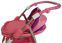 Коляска для куклы 9662 Melogo розовый  h=82 cm, 2 в 1, классика, фото 1