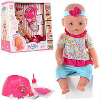 Кукла-пупс BB 8001-8 интерактивная, 9 функций