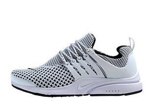 Мужские кроссовки Nike Air Presto TP QS Flyknit White | найк аир престо белые