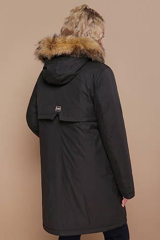 613845e89dd Теплая женская спортивная куртка-пуховик на молнии с мехом на капюшоне  большие размеры Куртка 18