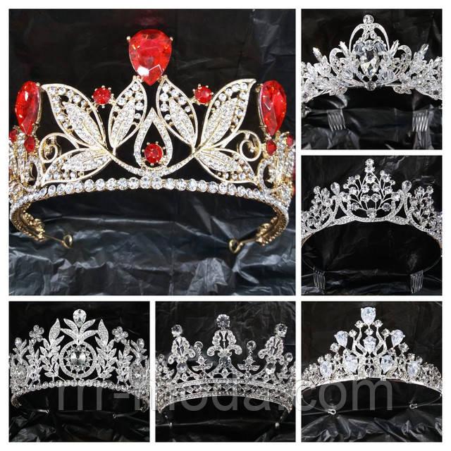 Свадебные аксессуары, украшения диадемы и короны Сваровски оптом, фото.